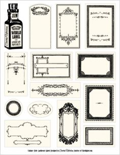 free printable apothecary labels