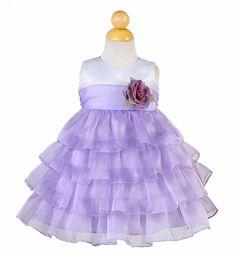 Dress Little Baby Girl | ... dresses, little girls purple Easter dress, baby ruffled Easter dress