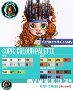 Saturated Canary - Feather Crown Copic Marker Palette - www.markergeek.com