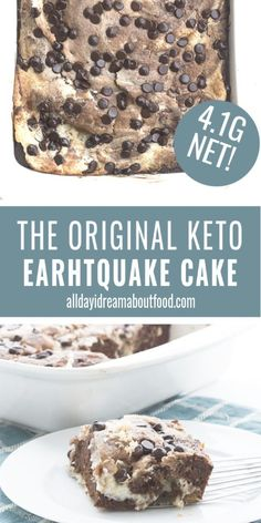 The Original Keto Earthquake Cake Accept no substitutes! This is the original and still the best keto earthquake cake, with mixed-up layers of chocolate cake, cream cheese, pecans, and coconut. So fun to make and to eat. Ketogenic Desserts, Keto Friendly Desserts, Keto Snacks, Ketogenic Breakfast, Ketogenic Diet, Diet Breakfast, Breakfast Casserole, Low Carb Sweets, Low Carb Desserts