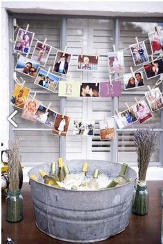 Top 11 Wine & Cheese Party Ideas i love the galvanized look for my outdoor parties. Hang a few blast from the past oh man. it's soo fun! The post Top 11 Wine & Cheese Party Ideas appeared first on Outdoor Ideas. Engagement Party Planning, Engagement Dinner Ideas, Casual Engagement Party, Engagement Party Cupcakes, Wedding Engagement, Engagement Celebration, Country Engagement, Wedding Planning, Cheese Party
