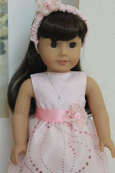 American Girl Doll Pink Sparkle Dress will fit most other 18 inch dolls by Sariahsdollcloset on Etsy