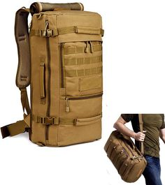 Hiking Camping Backpack for Men, Peagee Multi-Function Military Tactical  Shoulder Bag Waterproof Travel Daypack for Travel    New and awesome outdoor  gear ... 7744c2f464