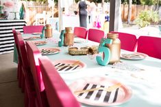 Cue the Confetti Party, sequins, stripes, glitter, tassels, sprinkles, table setting, gold, # 5