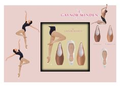New colours for Gaynor Minden pointe shoes by dancemania-biz on Polyvore featuring art