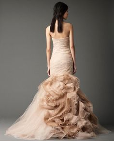 Vera Wang- gorgeous dress and color!