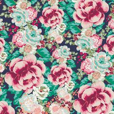 Floressence Collection - Art Gallery Fabrics - Acqua di Rose Jade - Half Yard. 4.75, via Etsy.