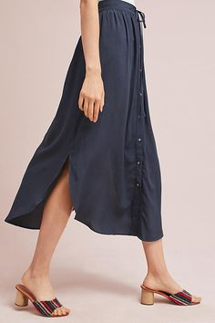 Slide View: 3: Toledo Button-Front Skirt