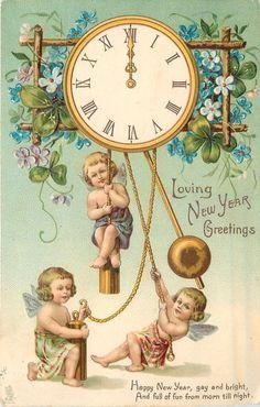 quenalbertini: Vintage New Year Card Vintage Happy New Year, Happy New Years Eve, Happy New Year Cards, New Year Wishes, New Year Greetings, Vintage Valentine Cards, Vintage Greeting Cards, Christmas Art, Vintage Christmas