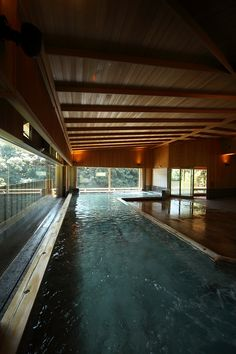 21 Impressive Creative concepts For Japanese Bath House, Japanese Spa, Spring Architecture, Architecture Design, Solarium, Japanese Hot Springs, Farm Village, Open Air, Into The West