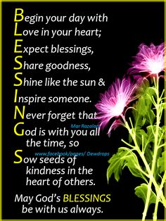 Be a Blessing