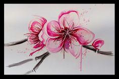 Sekura cherry blossom #watercolor #tattoo #flower