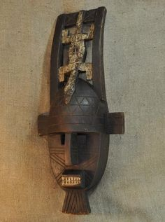 African Masks of the Kuba. This African Mask from the Kuba tribe of the Democratic Republic of Congo measures 28.5 inches tall and 11.5 inches wide and is hand-carved of wood. This example of Kuba art is over 40 years old.