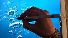 Apple Pencil drawing iPad pro art tutorial. How to paint underwater bubb...