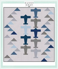A vintage airplane quilt for the little pilot in your sky. x Pattern Quilting Projects, Quilting Designs, Sewing Projects, Quilts For Men Patterns, Quilting Patterns, Quilting Ideas, Airplane Quilt, Airplane Room, Geometric Quilt