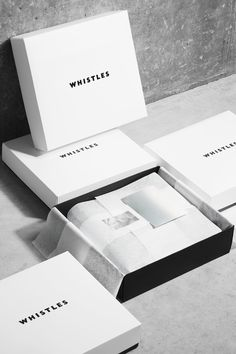 Whistles packaging and branding
