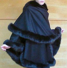 Beautiful fur and cashmere winter style wrap rubyandolivia.com