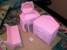 Accesorios para dormitorio de muñeca (tamaño Barbie)