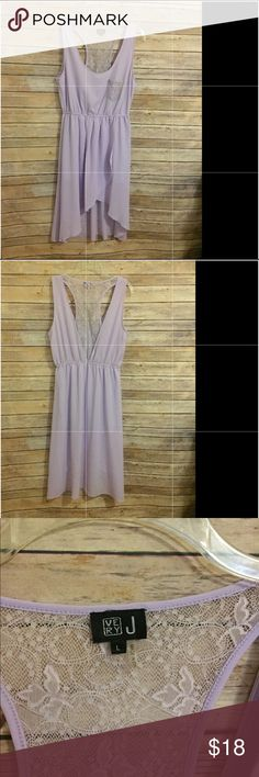 Lavender lace dress Beautiful lavender wit lace detail in back , hi low style Very J Dresses