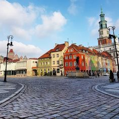 Stunning morning at Poznan Old Market Square #Poland #travel - This photo is showing on my Instagram https://www.instagram.com/p/BRX0LQVhA6a/ and you can also visit my Adventure travel blog at http://www.joaoleitao.com - thanks!