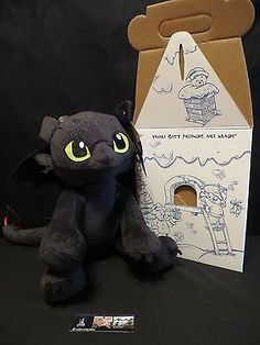 Toothless How to Train Your Dragon Build A Bear stuffed w/roar, box & birth cert