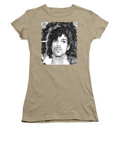 Women's T-Shirt (Junior Cut) - Prince - Tribute Sketch In Black And White 3
