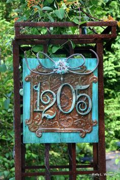 Items similar to Wooden Sign - House Numbers - Gorgeous, Unique, Salvage and Beaded Goodness. on Etsy Wooden Diy, Wooden Signs, House Address, House Numbers, Door Numbers, Home Signs, Yard Art, Home Projects, Home Improvement