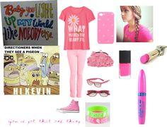 """""""Pink One direction outfit"""" by morganinoregan on Polyvore"""
