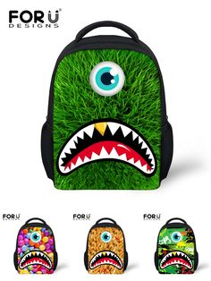 c7403b0183d Kids   Baby s Bags ·  Visit to Buy  FORUDESIGNS Cute Children School Bag 3D Eyed  Monster Pattern Kindergarten Baby
