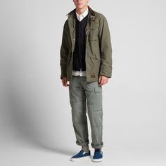 Typical of the military influence that is associated with WTAPS collections, the MA-65 Jacket from their AW'15 collection takes inspiration from classic field jackets. With a full zip closure, four stud closed pockets and a classic utility pocket, it is cut from a 100% cotton canvas blend and is finished with a woven logo patch and tab. 100% Cotton Twill Shell Full Zip Closure Utility Pocket set Up Internal Pocket Woven WTAPS Logo Detail Made in Japan