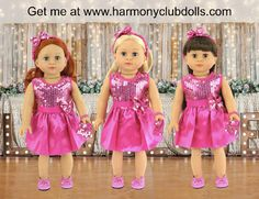 Check out http://harmonyclubdolls.com!  Harmony Club Dolls, 18 inch dolls and 18 inch doll clothes. Fit American Girl Dolls