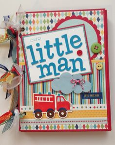 Scrapbook for Boy Premade Album 6x8 Toddler Boy by ArtsyAlbums