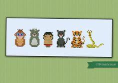 The Jungle Book cross stitch pattern