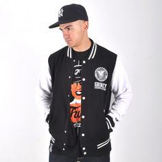 Grimey Core Varsity Ropa Hip Hop, Skate, Jackets, Fashion, Down Jackets, Moda, Fashion Styles, Fashion Illustrations, Jacket