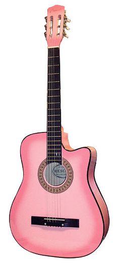 Pink Acoustic Beginner Cutaway Guitar ~j Go Pink, Pink Love, Pretty In Pink, Pink Piano, Pink Guitar, Piano For Sale, Pink Music, Guitars For Sale, Pink Stuff