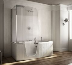 Bathtub With Shower Designed By Fabio Lenci For Teuco Guzzini.