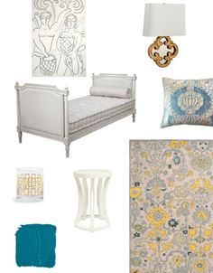 A daybed nook look inspired by the formal houses of New Orleans by Haskell Harris Creative