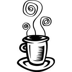#Vinilo para #cafeteria con dibujo taza café
