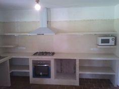 Resultado de imagen para cocinas empotradas de cemento