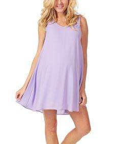 Love this PinkBlush Lavender Chiffon Maternity V-Neck Dress on #zulily! #zulilyfinds