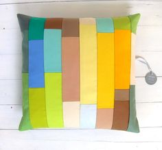 playful yellow pillow cover