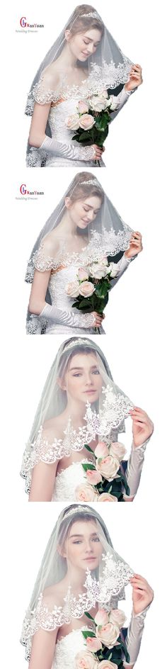 Bridal Veils 2017 Lace Edge 1.5 m * 3 m Two-Layer Wedding Accessories Cathedral Wedding Veil Mantilla Wedding Veil Wedding Veil