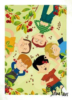 I like cherries and my fairytale ... too!  http://silviafaus.blogspot.com.es/p/dibuixos.html