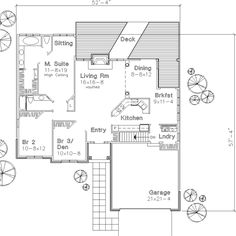 Main Floor Plan image of The Mason House Plan
