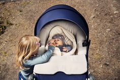 Stokke Trailz lifts baby closer to you, encouraging eye contact & connection