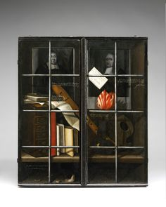 Cupboard, unknown, 1678 – possibly Rotterdam, Netherlands. Museum no. © Victoria and Albert Museum, London Lawrence Alma Tadema, Dutch Still Life, Still Life Artists, Cabinet Of Curiosities, Victoria And Albert Museum, Three Dimensional, Cupboard, Amazing Art, Painted Furniture
