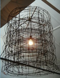 Wire light by Mark Tuckey - installed in an arrangement of three by Space Grace & Style... photos to follow