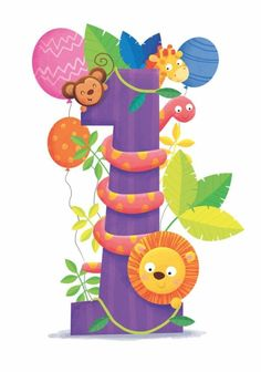 Leading Illustration & Publishing Agency based in London, New York & Marbella. Birthday Wishes For Kids, Happy Birthday Text, Baby Birthday, Birthday Pictures, Birthday Images, Image Facebook, Happy Birthday Illustration, 1st Birthday Photoshoot, Jungle Party