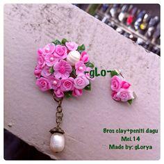 Clay brooch