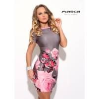 Masca Fashion csónaknyakú, rózsa és pillangómintás szűk szürke-rózsaszín miniruha, könnyen kezelhető, selymes tapintású anyagból. Dresses, Fashion, Vestidos, Moda, Fashion Styles, Dress, Fashion Illustrations, Gown, Outfits